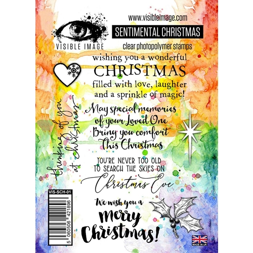 Visible Image SENTIMENTAL CHRISTMAS Clear Stamp Set VIS-SCH-01 Preview Image