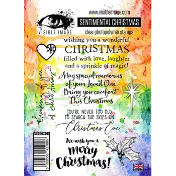 Visible Image SENTIMENTAL CHRISTMAS Clear Stamp Set VIS-SCH-01