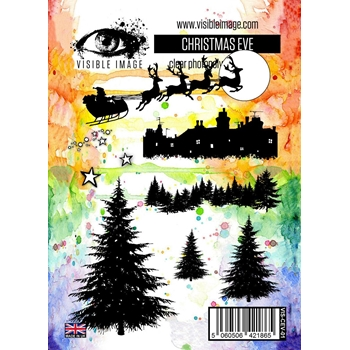 Visible Image CHRISTMAS EVE Clear Stamp Set VIS-CEV-01