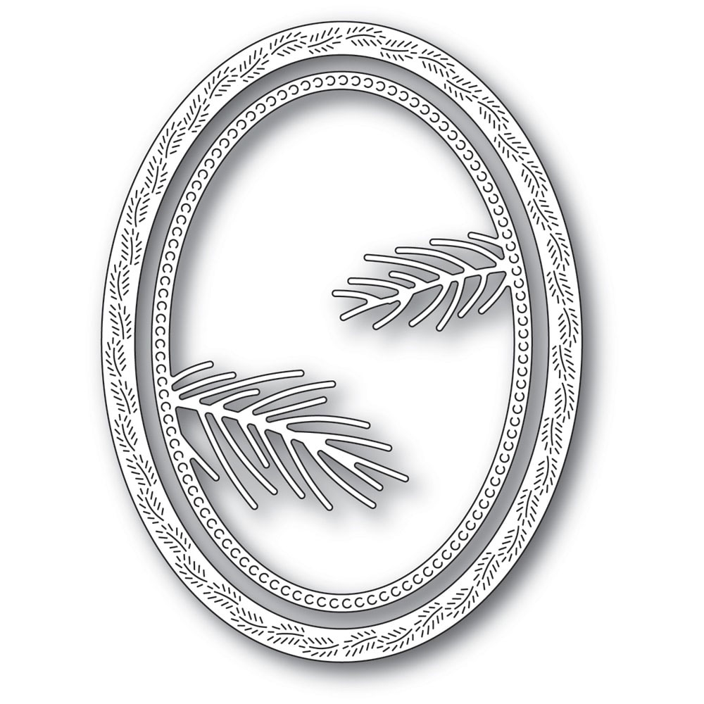 Memory Box PINE NEEDLE OVAL FRAME Craft Dies 94283 zoom image