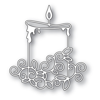 Memory Box GILDED WIDE CANDLE Craft Die 94293