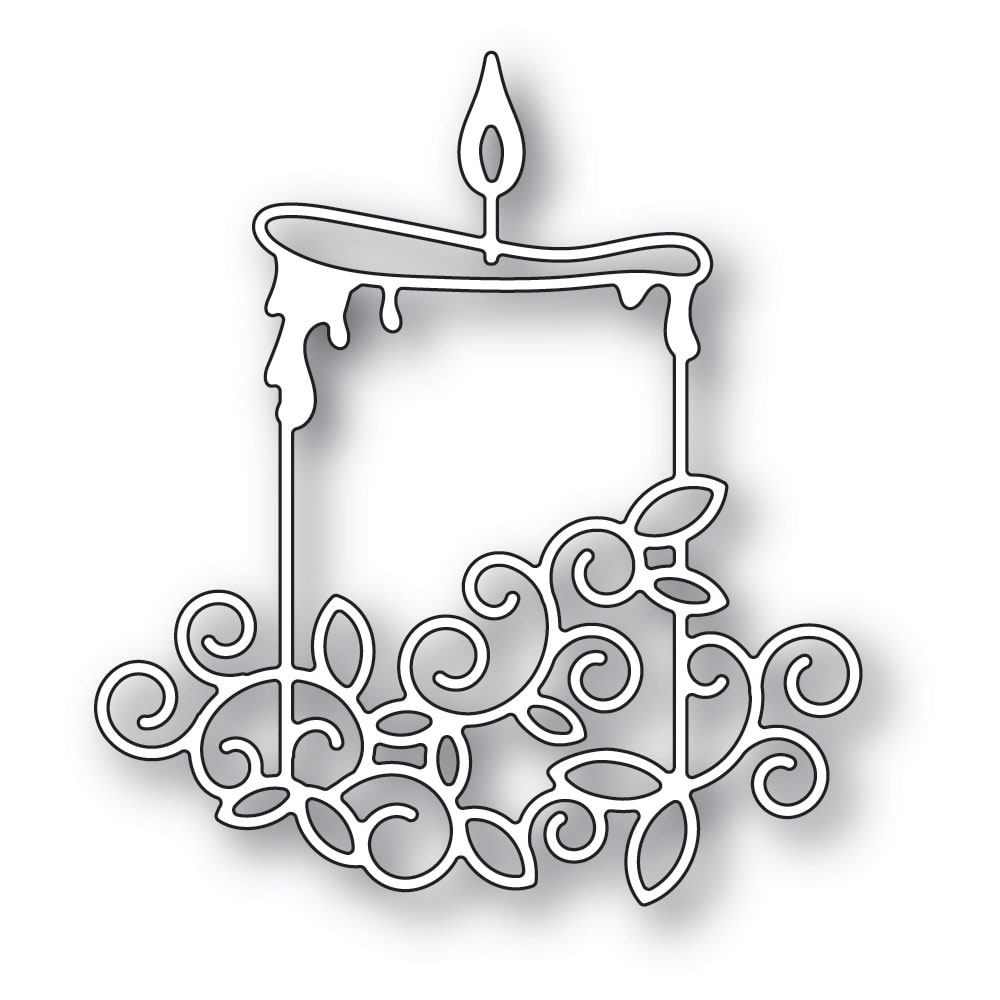 Memory Box GILDED WIDE CANDLE Craft Die 94293 zoom image