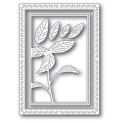 Memory Box SIMPLE POINSETTIA FRAME Craft Dies 94297 Preview Image