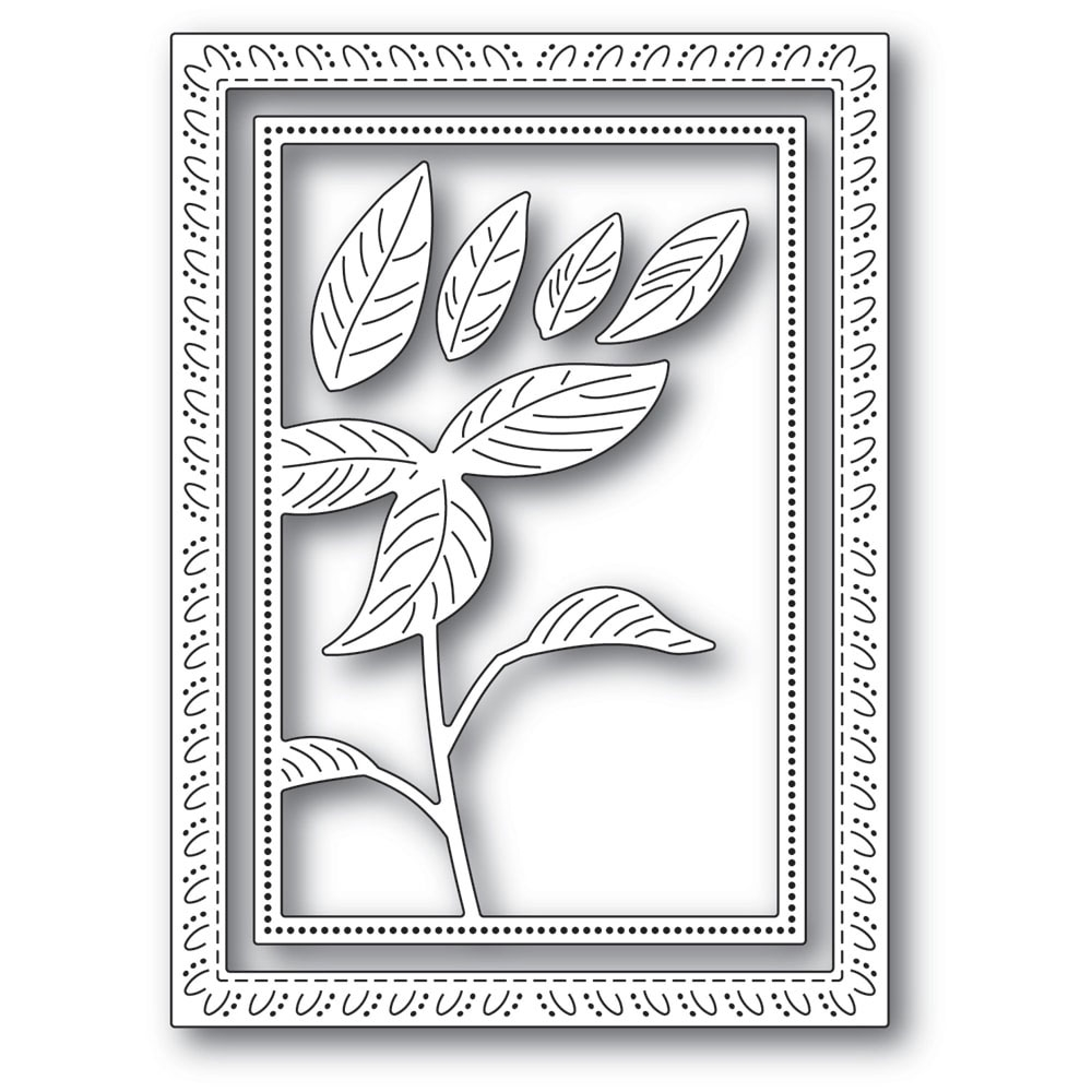 Memory Box SIMPLE POINSETTIA FRAME Craft Dies 94297 zoom image