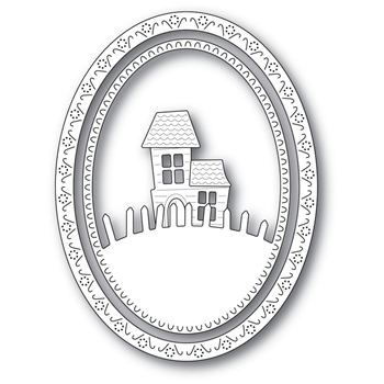 Memory Box HAUNTED HILL OVAL FRAME Craft Dies 94300