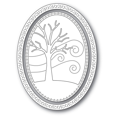 Memory Box WINTER TREE OVAL FRAME Craft Dies 94309 Preview Image