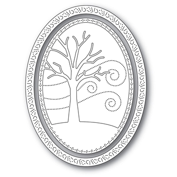 Memory Box WINTER TREE OVAL FRAME Craft Dies 94309