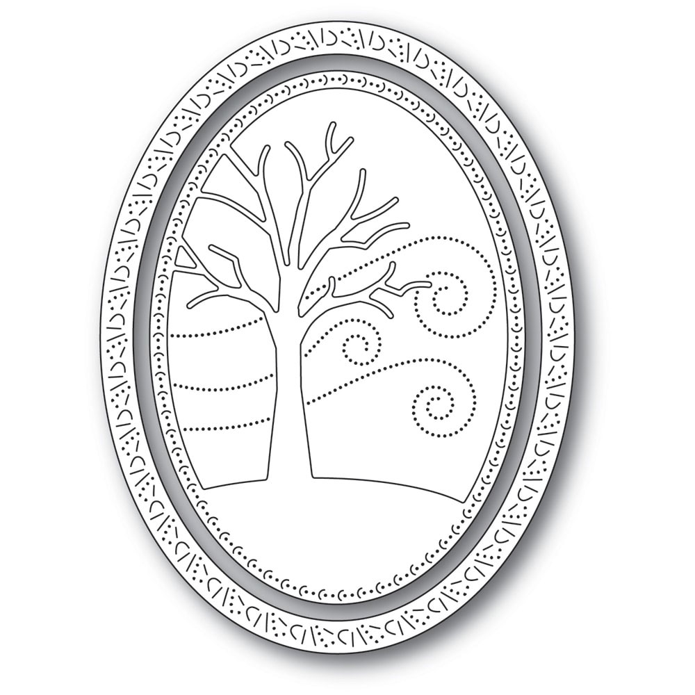 Memory Box WINTER TREE OVAL FRAME Craft Dies 94309 zoom image
