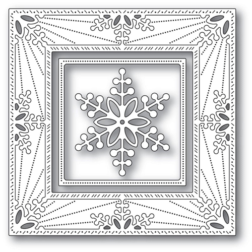 Memory Box BAUBLE SNOWFLAKE FRAME Craft Dies 94314 Preview Image