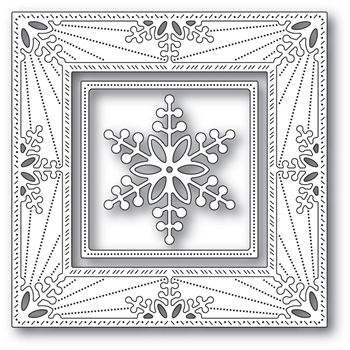Memory Box BAUBLE SNOWFLAKE FRAME Craft Dies 94314
