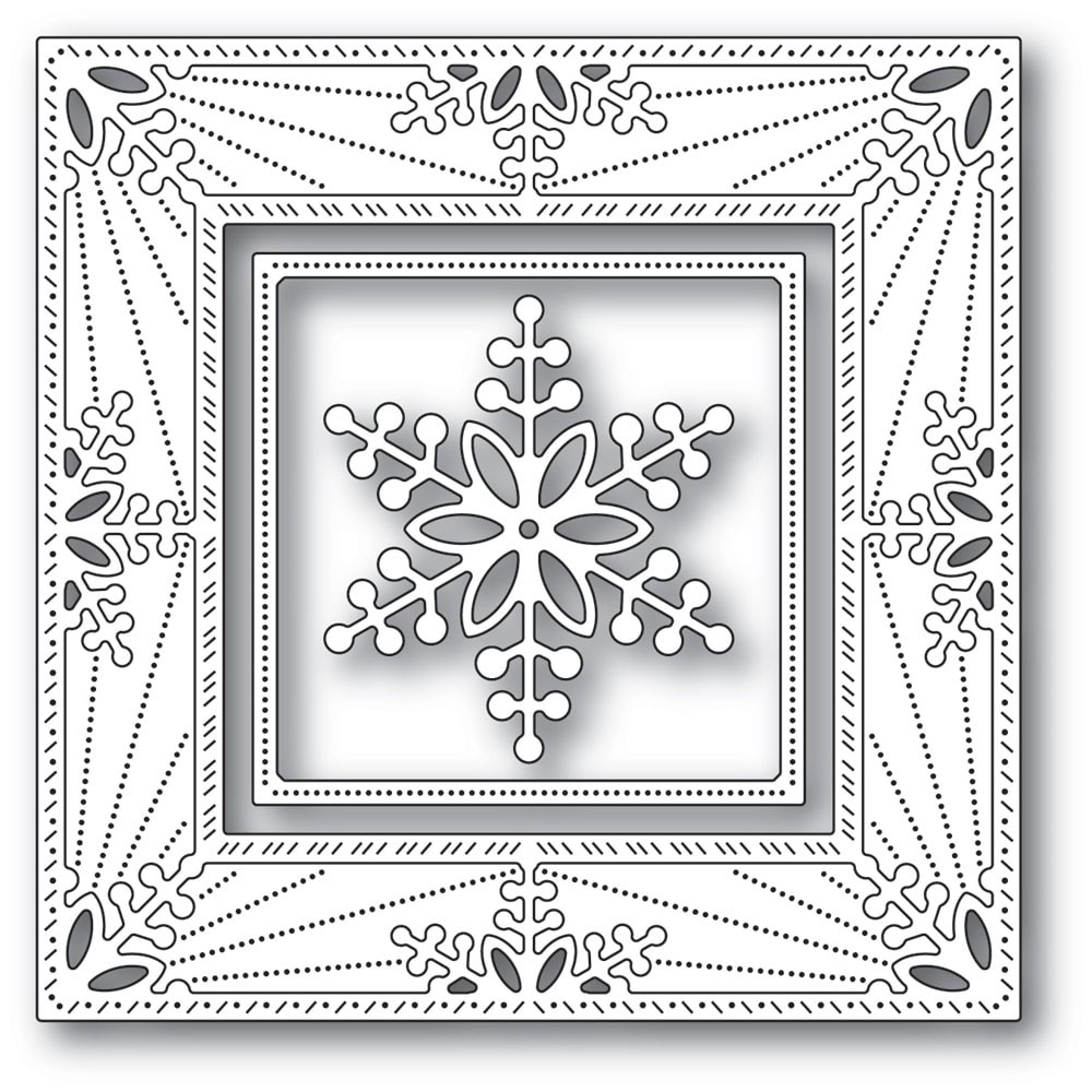 Memory Box BAUBLE SNOWFLAKE FRAME Craft Dies 94314 zoom image
