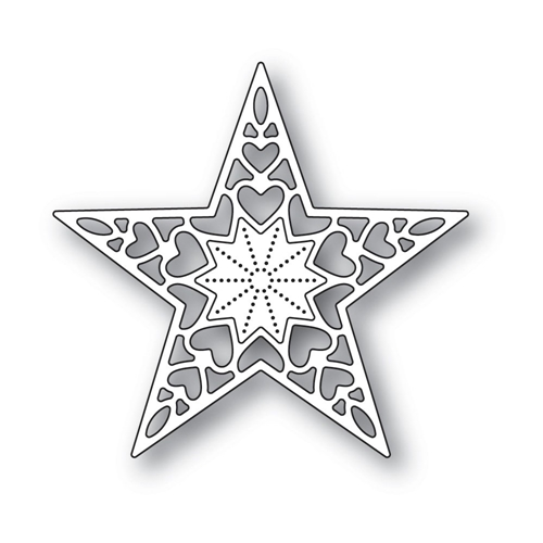 Memory Box HOLIDAY HEART STAR Craft Die 94320 Preview Image