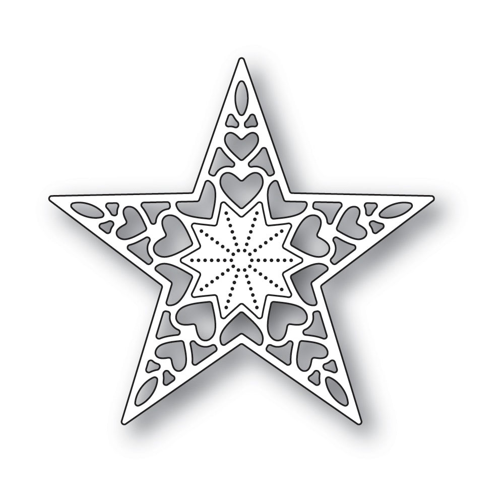 Memory Box HOLIDAY HEART STAR Craft Die 94320 zoom image