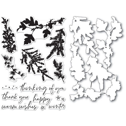 Memory Box WINTER GREENERY Clear Stamp and Die Set cl5235d Preview Image