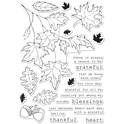 Memory Box Clear Stamps GRATEFUL AUTUMN cl5243 Preview Image