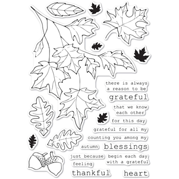 Memory Box Clear Stamps GRATEFUL AUTUMN cl5243