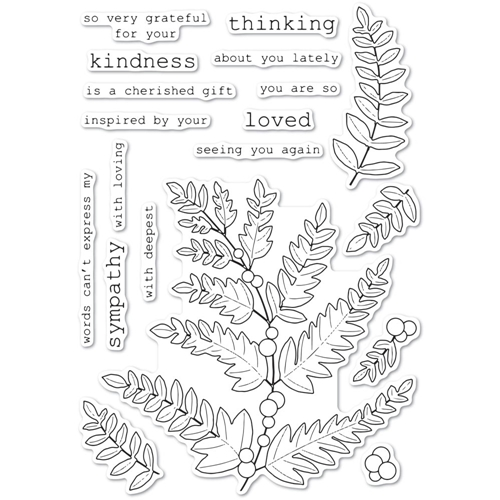 Memory Box Clear Stamps FERN AND BERRIES cl5249 Preview Image