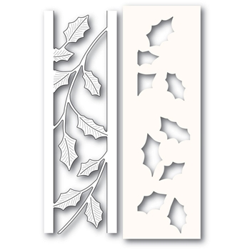 Poppy Stamps HOLLY SIDE STRIPS Craft Die and Stencil 2231