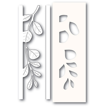 Poppy Stamps MISTLETOE SIDE STRIPS Craft Die and Stencil 2234