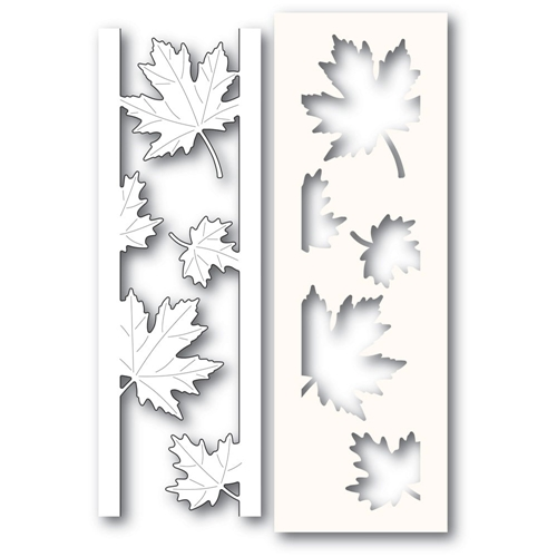 Poppy Stamps MAPLE LEAF SIDE STRIPS Craft Die and Stencil 2236 Preview Image