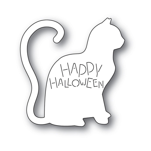 Poppy Stamps HAPPY HALLOWEEN CAT Craft Die 2237 Preview Image