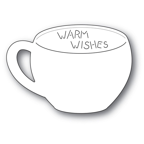 Poppy Stamps WARM WISHES Gift Card Cup Craft Die 2254* Preview Image