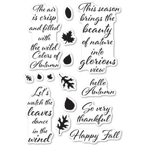 Poppy Stamps Clear Stamps AUTUMN LEAVES cl485 Preview Image