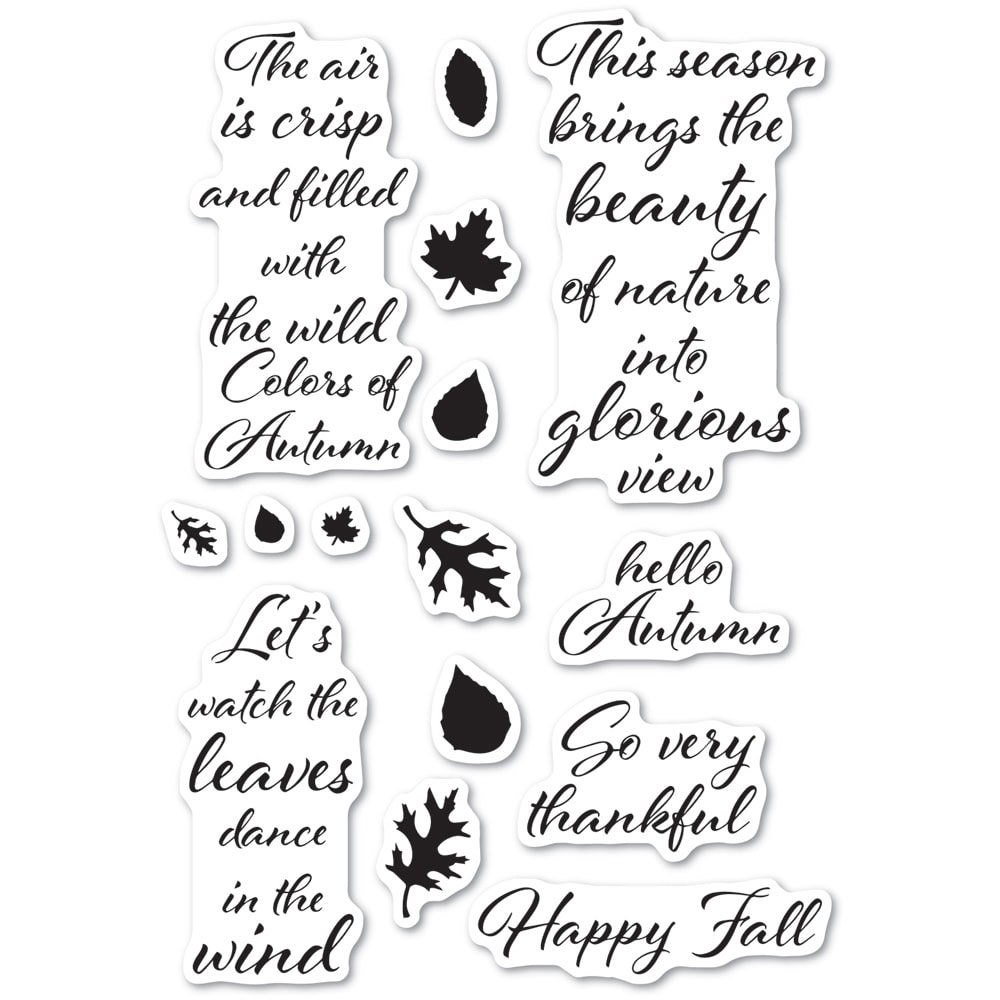 Poppy Stamps Clear Stamps AUTUMN LEAVES cl485 zoom image
