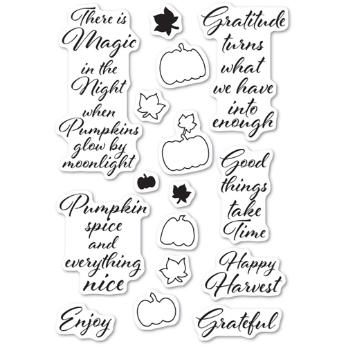 Poppy Stamps Clear Stamps PUMPKIN PATCH cl486 Preview Image