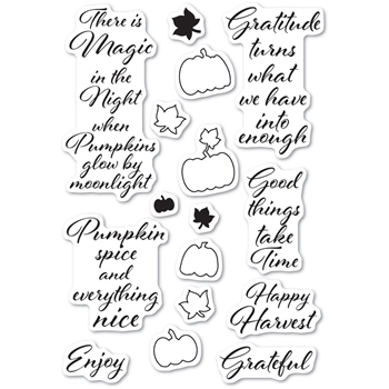 Poppy Stamps Clear Stamps PUMPKIN PATCH cl486
