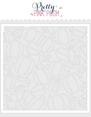 Pretty Pink Posh PUMPKIN BACKGROUND Stencil Preview Image