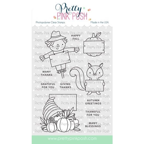 Pretty Pink Posh FALL SIGNS Clear Stamps Preview Image