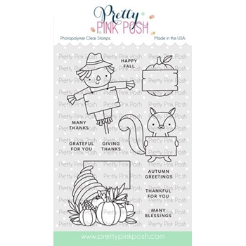 Pretty Pink Posh FALL SIGNS Clear Stamps