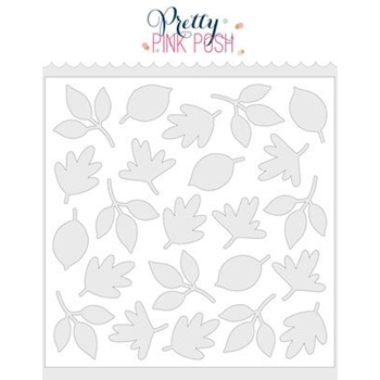 Pretty Pink Posh AUTUMN LEAVES Stencil