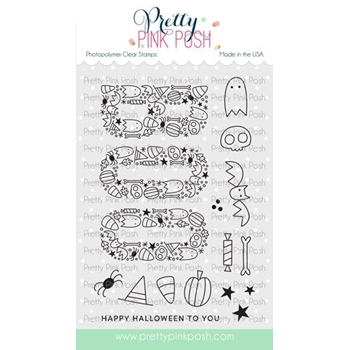 Pretty Pink Posh BOO Clear Stamps