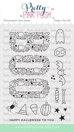 Pretty Pink Posh BOO Clear Stamps zoom image