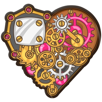 Brutus Monroe STEAMPUNK HEART Collectible Enamel Pin bru5284