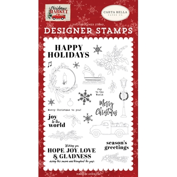 Carta Bella HAPPY HOLIDAYS Clear Stamp Set cbcm106045