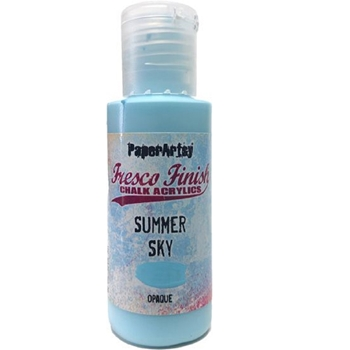 Paper Artsy Fresco Finish SUMMER SKY Chalk Acrylic Paint 1.69oz ff150