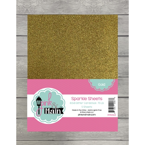 Pink and Main GOLD Sparkle Sheets PMSS02 Preview Image