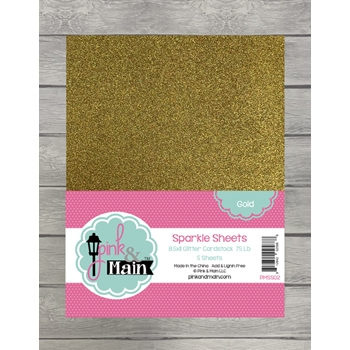 Pink and Main GOLD Sparkle Sheets PMSS02