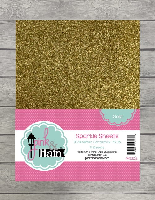 Pink and Main GOLD Sparkle Sheets PMSS02 zoom image