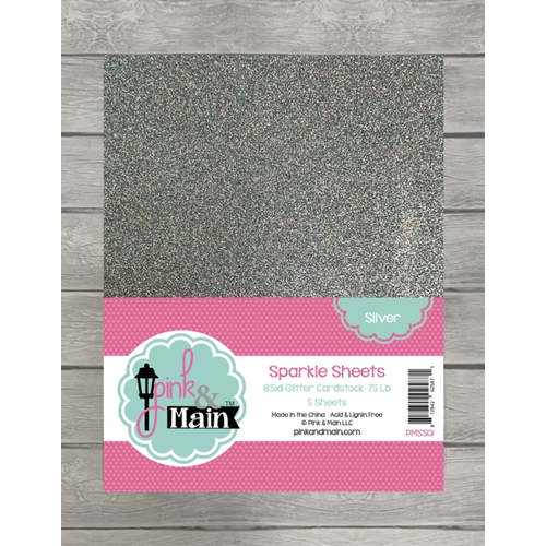 Pink and Main SILVER Sparkle Sheets PMSS01 Preview Image