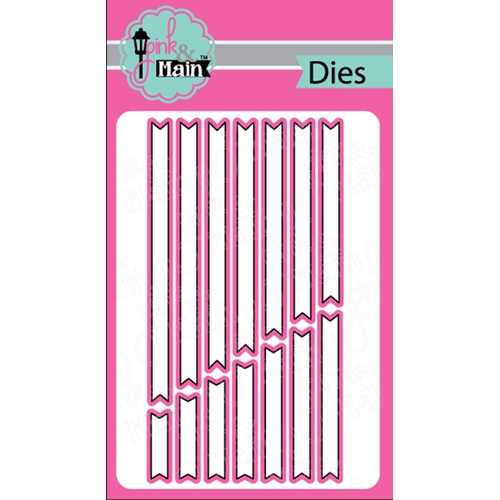Pink & Main Sentiment Strip Dies