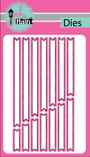 Pink and Main SENTIMENT STRIP Dies PNM234 zoom image