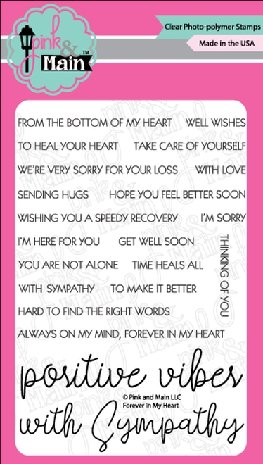 Pink and Main FOREVER IN MY HEART Clear Stamps PM0362 zoom image