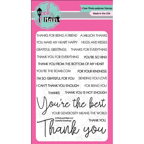 Pink and Main GRATEFUL GREETINGS Clear Stamps PM0359 Preview Image