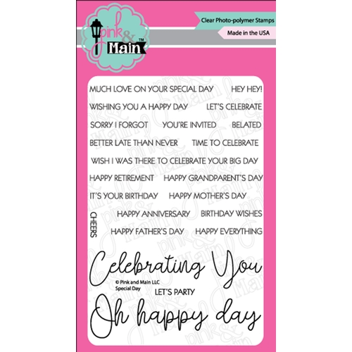 Pink and Main Special Day Stamp Set