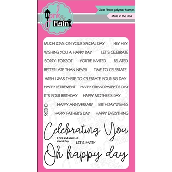 Pink and Main SPECIAL DAY Clear Stamps PM0361