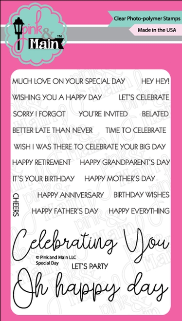 Pink and Main SPECIAL DAY Clear Stamps PM0361 zoom image